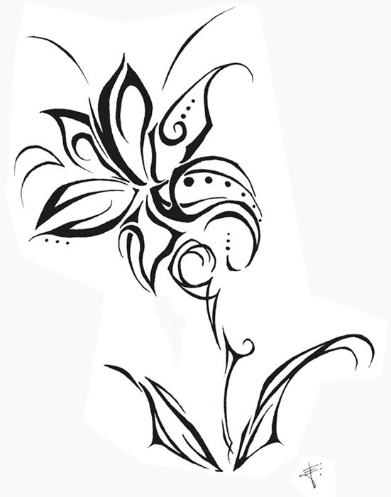 Tribal Flower Tattoo Designs   tribal flower by ~killerfish on deviantART