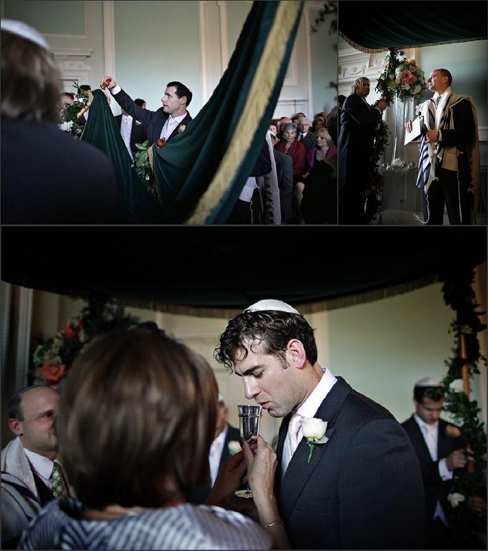 Jewish wedding ceremony at Botleys Mansion / nealejames.com