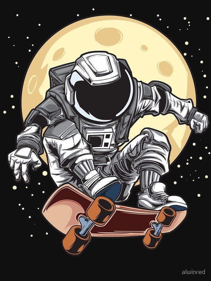 Pin By One Direction On Karakter Animasi Astronaut Wallpaper Astronaut Art Astronaut Illustration