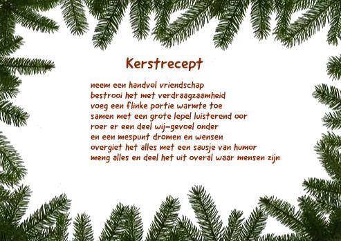 kerstkaarten teksten kerstrecept lieverd