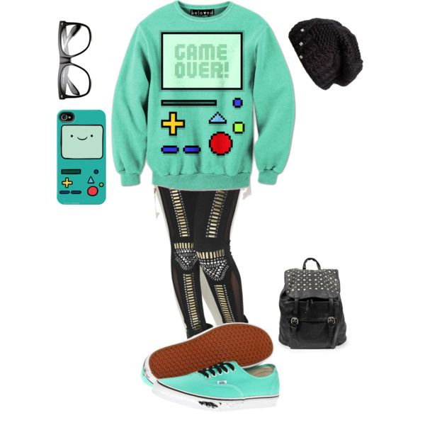"""""""Cute !!!!"""" by kamryngardner on Polyvore. Kamryn created this using her iPhone app. Darned clever! I found those pants and clipped them to poly a couple of days ago - they've been used 7 times. Finding unclipped items is as rare as finding an unpinned image. LOL! ;) Mo I pinned this set here because it's a teenager outfit."""