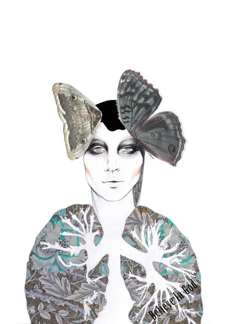 Beauty Of Anatomy, July 2012. Believe In God Illustration.