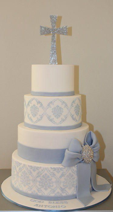 communion cake in Pink rather than blue