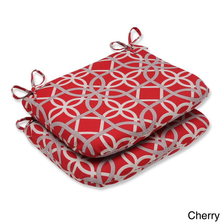 Pillow Perfect Keene Rounded Corners Outdoor Seat Cushions