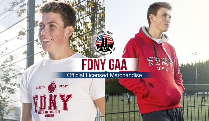 FDNY GAA range by O'Neills, now available to buy online. Perfect for a Christmas Gift or to keep you wrapped up this winter. Selection of hoodies, tees & pants all available to order online at www.oneills.com.