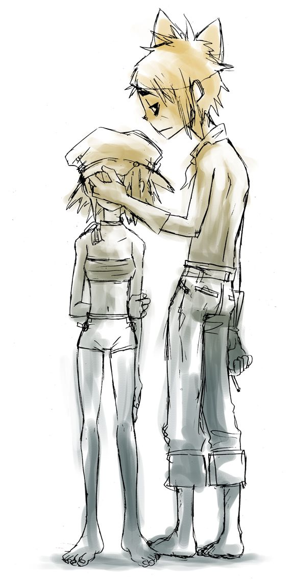 Graffiti of 2D and Noodle by parakeet0622.