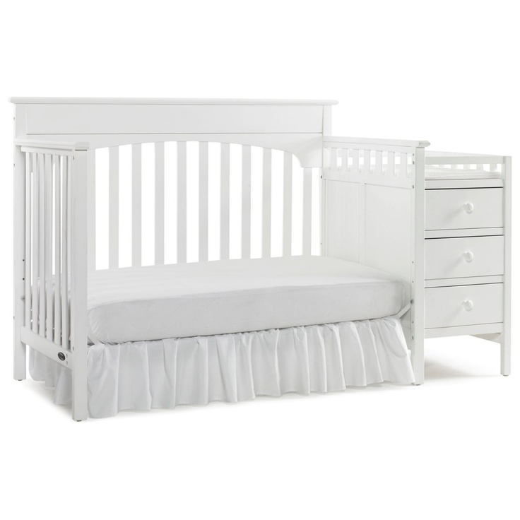 Graco Lauren 4 In 1 Convertible Crib And Changer Combo Clic White Nursery Furniture