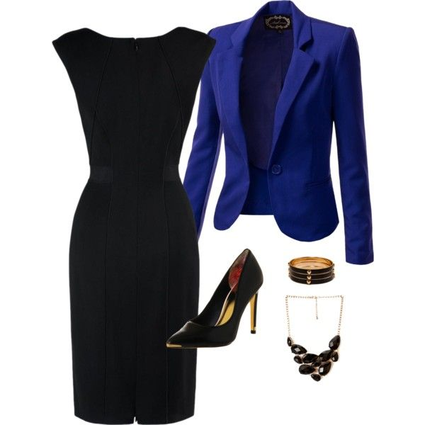 A fashion look from February 2014 featuring tailored dresses, tailored blazer and stiletto pumps. Browse and shop related looks.