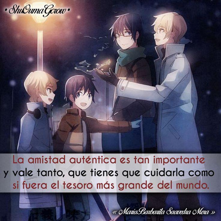 La amistad #ShuOumaGcrow #Anime #Frases_anime #frases
