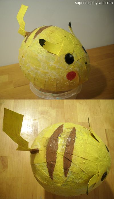 Pokémon - Pikachu Piñata (freshly made and drying!)