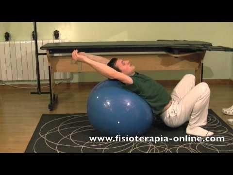 Estiramiento de espalda incentivando la respiración.