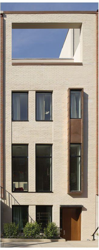 Modern Townhouses Facade - photo: Nathan Sayers - Architizer