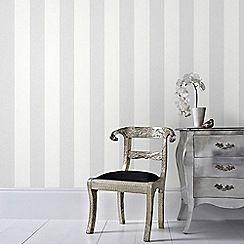 Graham & Brown - Grey Calico Stripe Wallpaper