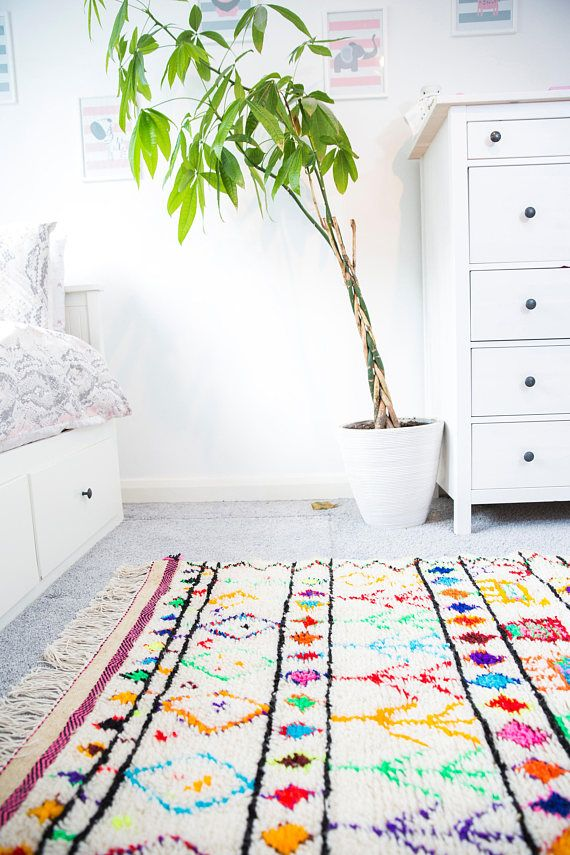 Colorful Berber Rug For Kids Bedroom