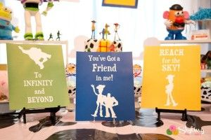 Signs from a Toy Story Themed Birthday Party via Kara's Party Ideas | The Place for All Things Party! KarasPartyIdeas.com (23)
