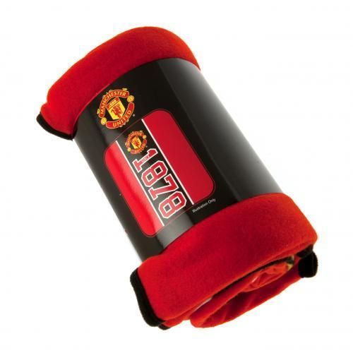 Manchester United FC Official Crested Fleece Blanket Throw Est Since1878 Gift  | eBay