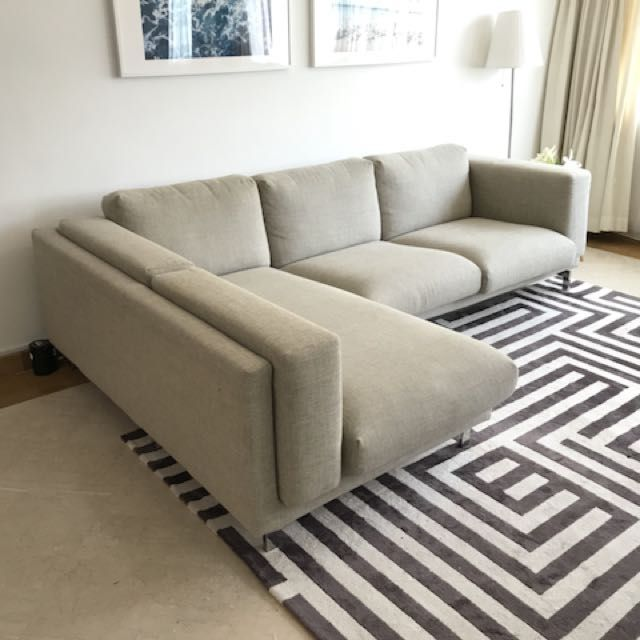 IKEA Nockeby L-Shaped Sofa, Furniture, Sofas on Carousell ...