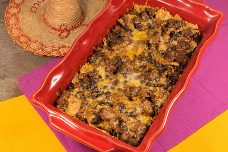 Craving Mexican food, but don't want to go out? Try this Awesome Beef Taco Casserole! This easy ground beef casserole will have you happy you skipped the restaurant wait, while being better than anything you'd find on a drive-thru menu.