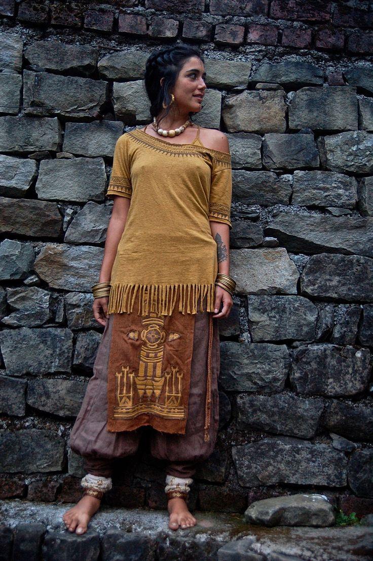 Native American Organic Hemp cotton T- shirt in Mustard with ASO free print Tribal eco friendly made by AnuttaraCrafts by AnuttaraCrafts on Etsy https://www.etsy.com/au/listing/208964712/native-american-organic-hemp-cotton-t