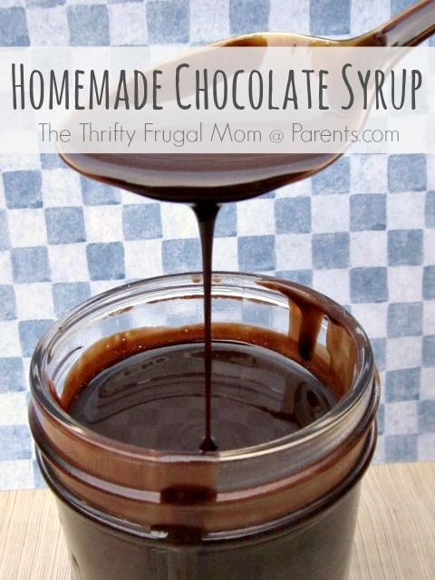 Homemade Chocolate Syrup-- much healthier than the store bought version, inexpensive, super simple to make and so delicious! Chocolate milk anyone?