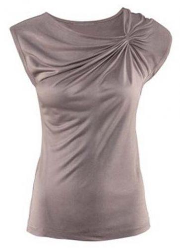 Casual Style Woman Round Neck Sleeveless T Shirts