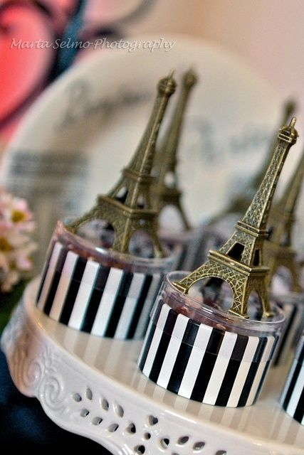 Paris Birthday Party Favors!  See more party ideas at CatchMyParty.com!