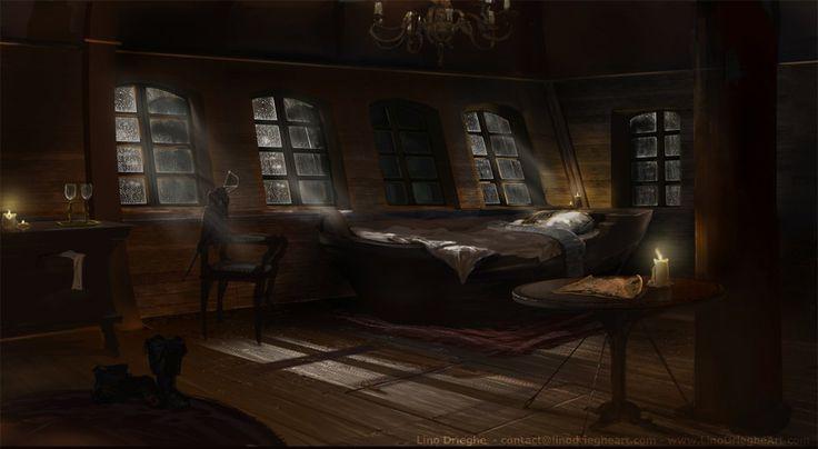 The captain 39 s private quarters picture 2d illustration for Captain s cabin