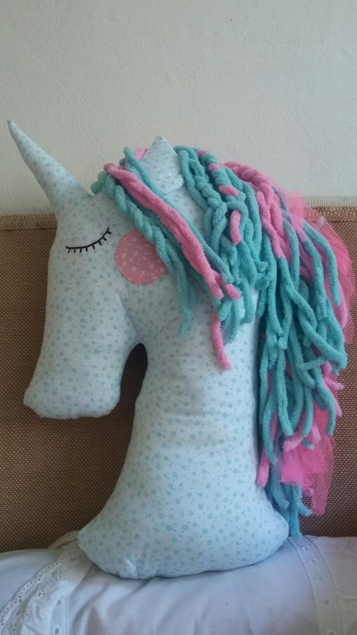 Our first unicorn pillow