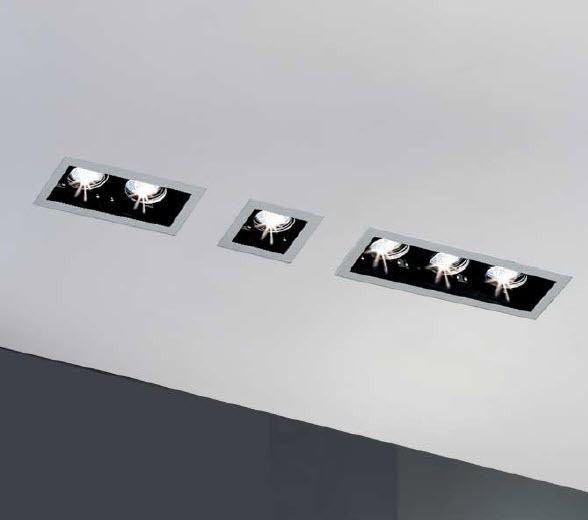 Square recessed ceiling halogen spotlight by Baulmann Leuchten _
