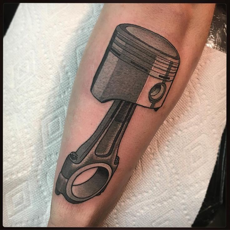 Made this piston for my dude JJ! Thanks homie! #tattoo #tattoos #tattooart #tattooartist #tattooing #tattoolife #tattooflash #tattoodesign #oldlines #tattooed #tattooer #neotrad #cars #mechanic #newyorktattoo #tats #tatted #tattedup #tattoosofinstagram #tattooshop #sinkorswimtattoo  #piston #tattoomodel #traditionaltattoo #traditionaltattoos #neotraditional #neotraditionaltattoo #realtattoos #besttradtattoos #pridetattooneedles