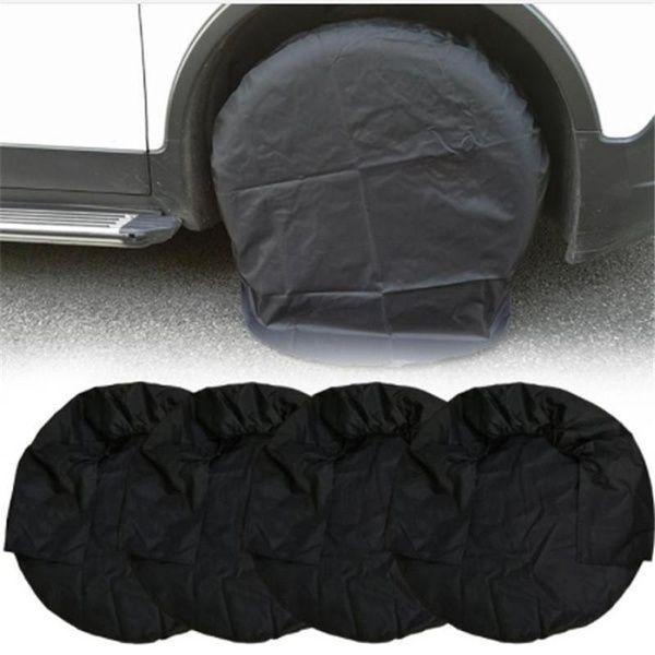 4PCS Heavy Duty RV Car Wheel Tire Covers For Truck Trailer Camper Motorhom Gray