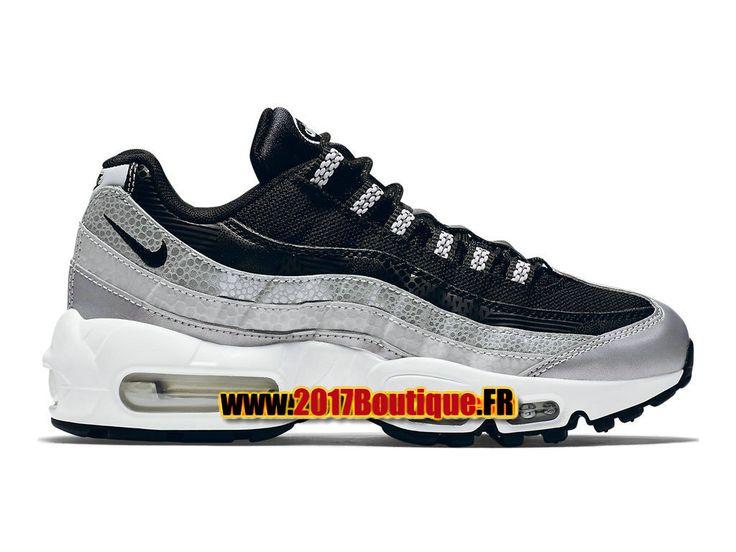 Nike Wmns Air Max 95 QS Chaussures Nike Basketball Pas Cher Pour Femme Noir/Blanc 814914-001