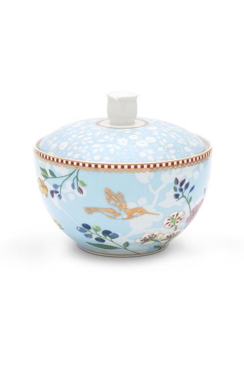 Pip Studio Floral sugar bowl Hummingbirds blue