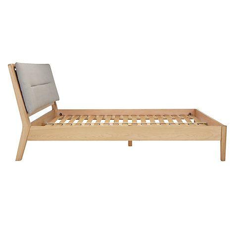 Buy John Lewis Laufey Bed Frame, Super King Size, Oak/Grey Online at johnlewis.com