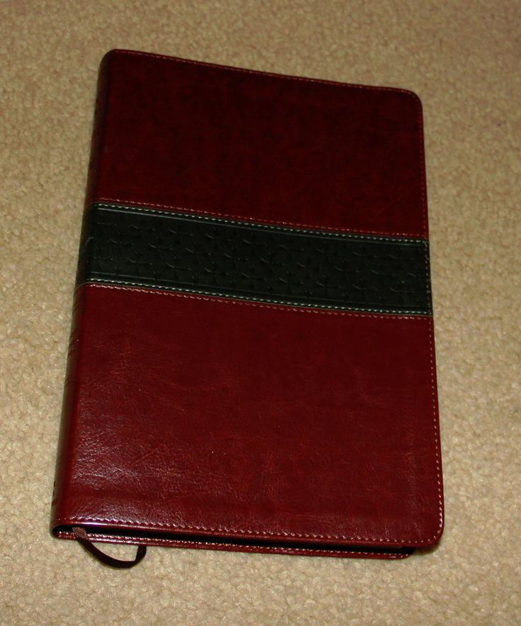 ESV Large Print Thinline Reference Bible TruTone Walnut