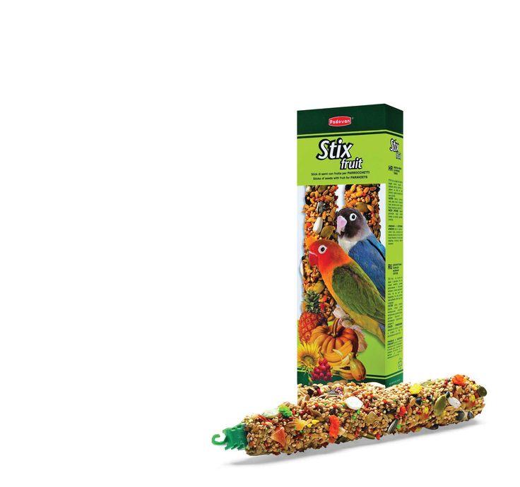 Падован Лакомства STIX FRUIT палочки фруктовые д/средних попугаев 100 г