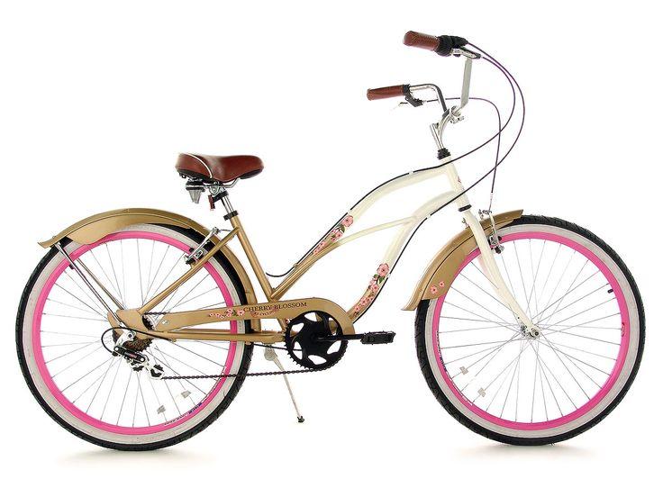 bicycles with cherries   Details zu BEACHCRUISER CRUISER FAHRRAD DAMEN CHERRY BLOSSOM 717B