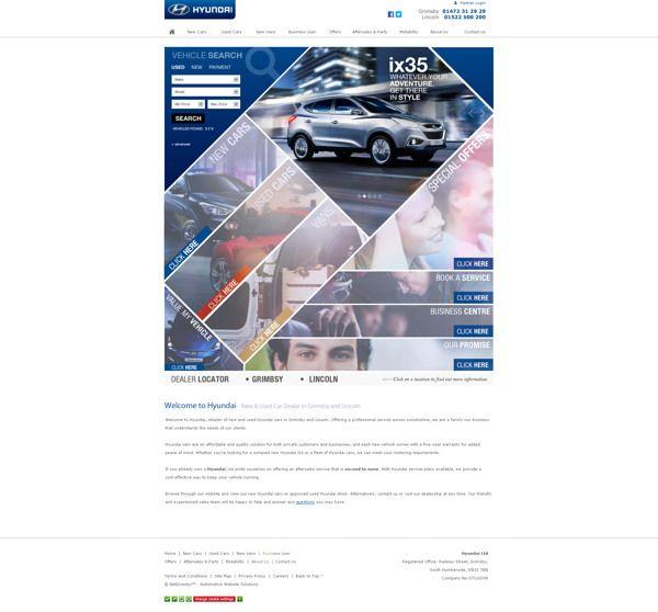 Concept Hyundai Dealer Website by Ellis Wigley, via Behance