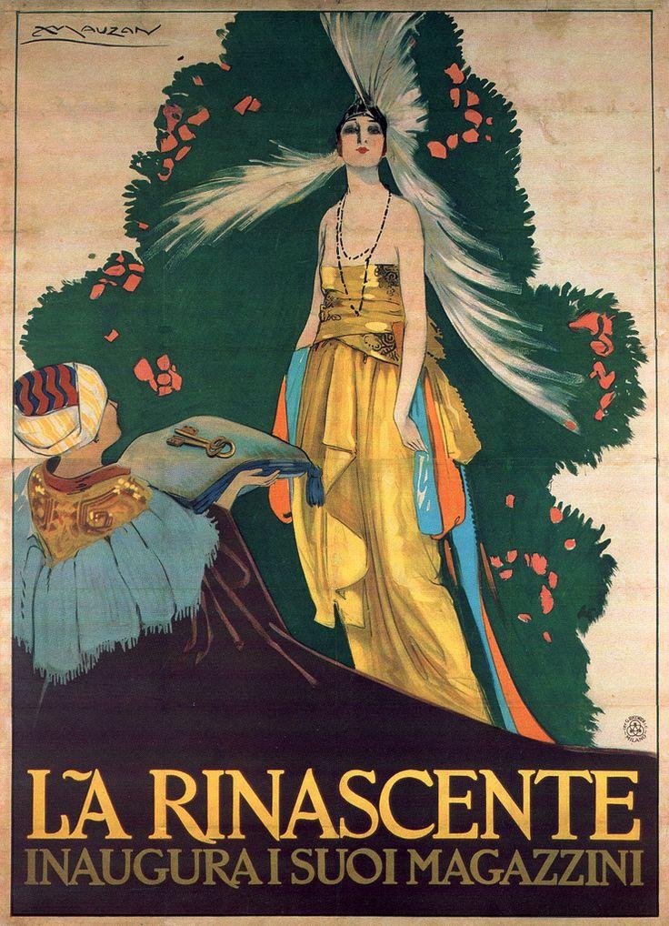 Achille Luciano Mauzan, La Rinascente department store opening, 1917   da laura@popdesign