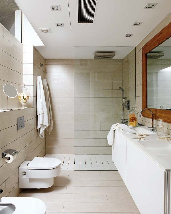 What a remarkable idea for bringing in natural light while for House bathroom design