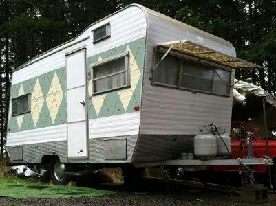 Argyle On A Vintage RV