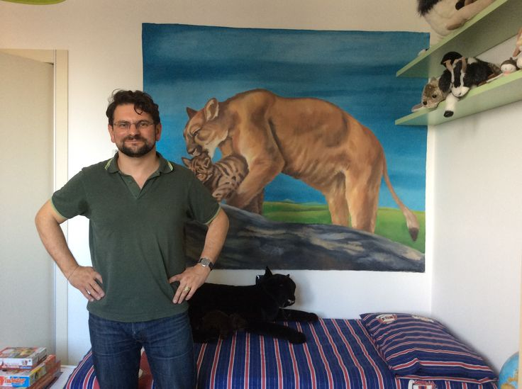 dipinto di puma per stanza di bambino
