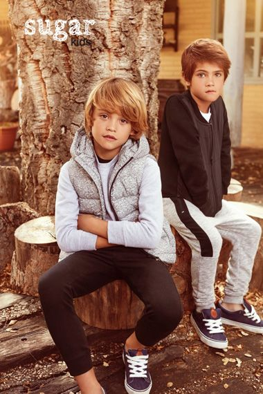 Noahn & Biel from Sugar Kids for Lefties 'Soft collection' fall 2016