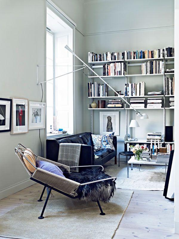 <3: Lamps, Living Rooms, Interiors Photography, Chairs, Jonas Ingerstedt, Nordic Design, In Ruin, Style Bookshelves, Hans Wegner