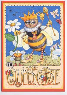 My friend @Judi Grasser gave me a stamp like this 9 years ago! Remember this, Judi? The Queen Bee <3
