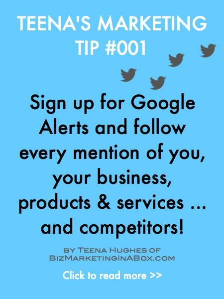 Using Google Alerts (or other alerts) is a great way to find out when you're talked about online. You can also follow what your competitors are up to - all knowledge is good.