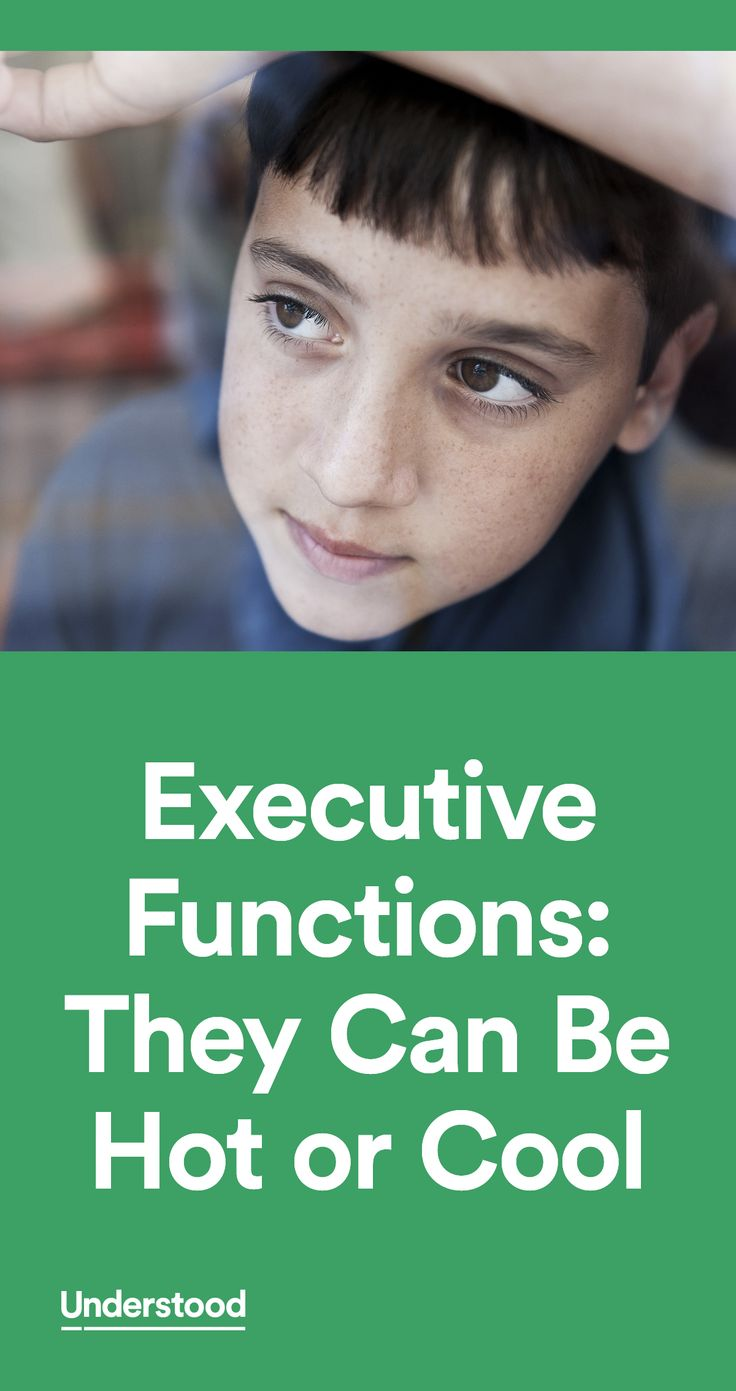 Hot executive functions refer to the self-management skills we use in situations where emotions run high. Cool executive functions refer to the skills we use when emotions aren't really a factor.