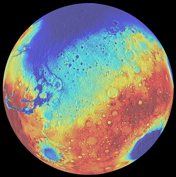 """#Mars #Space – Mars Had Surprising 400-Million-Year Lull Between Giant-Impact Eras : Mars enjoyed about 400 million years of relative peace between two giant-impact epochs long ago, a new study suggests. Researchers determined that there were likely no gigantic impacts on the Red Planet between about 4.5 billion years ago and the """"Late Heavy Bombardment"""" …"""