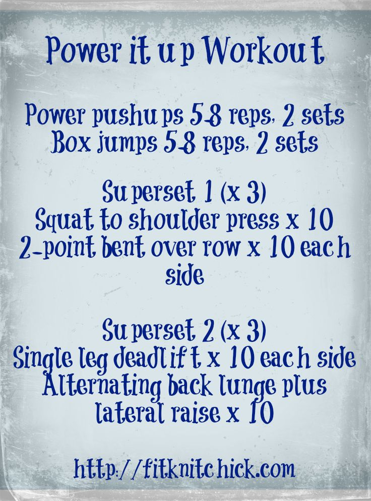 Power it up workout