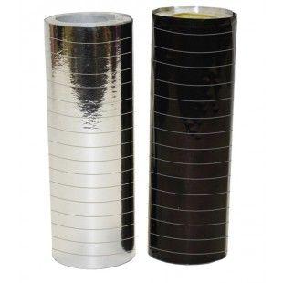 Metallihohtoinen serpentiini, hopea ja musta